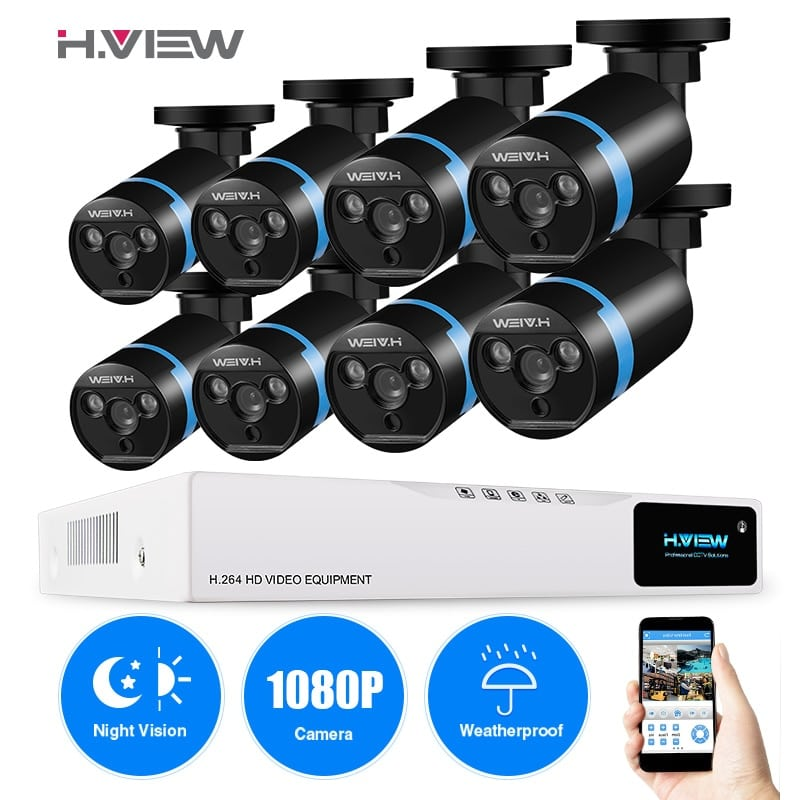 8 Pack Security Camera System 8 Hd 1080p Security Cameras